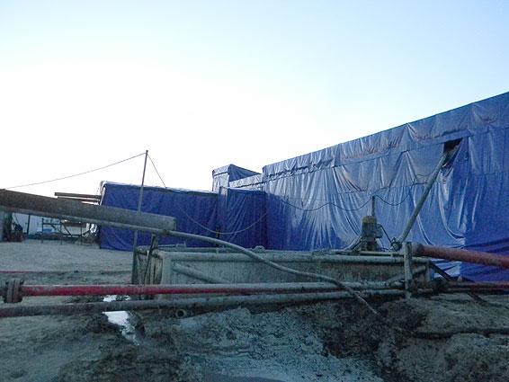 Укрытие регенерационного комплекса буровой установки. Северо-Янтгинское  месторождение.